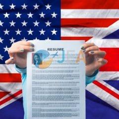 cv anglais cv americain