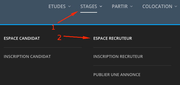 espace recruteur